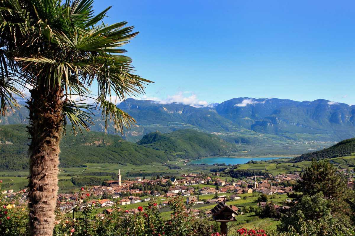 Bozen nur 15km entfernt - Die Villa Clavenz am Kalterer See.